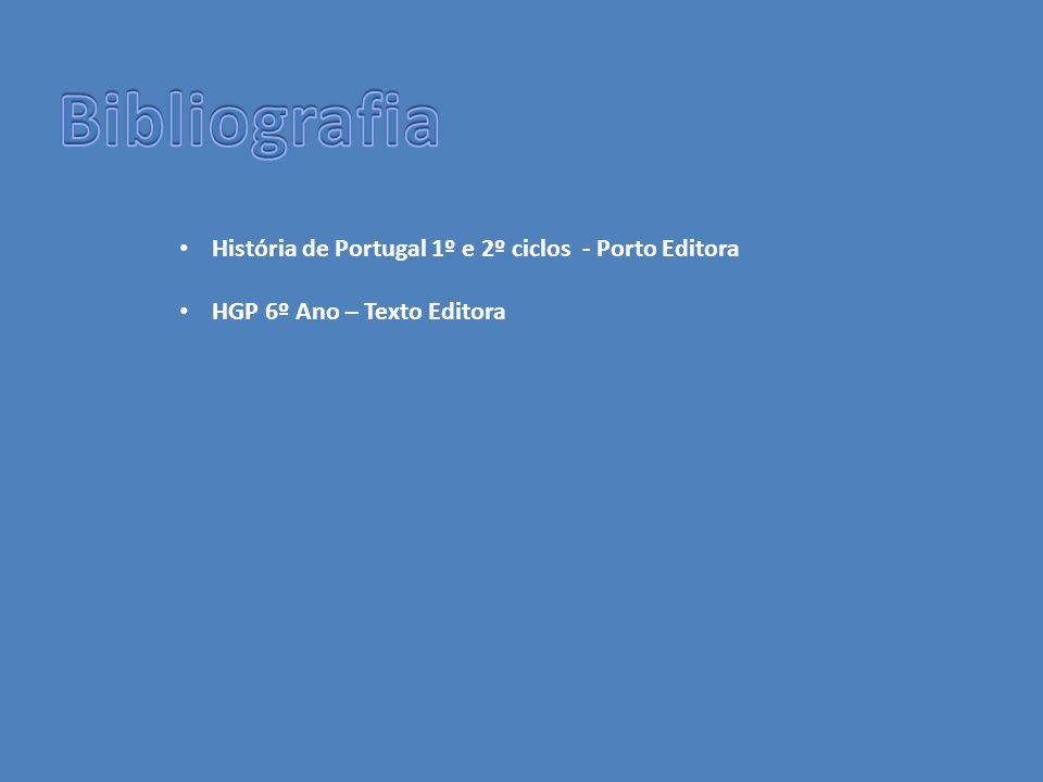 • História de Portugal 1º e 2º ciclos - Porto Editora • HGP 6º Ano – Texto Editora