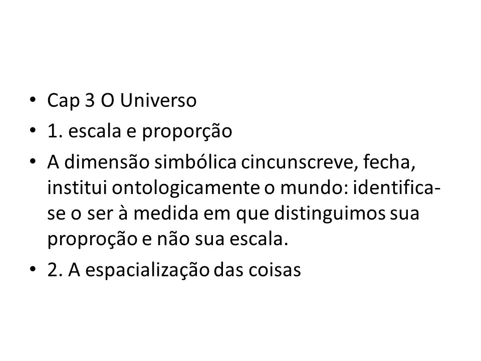 • Cap 3 O Universo • 1.