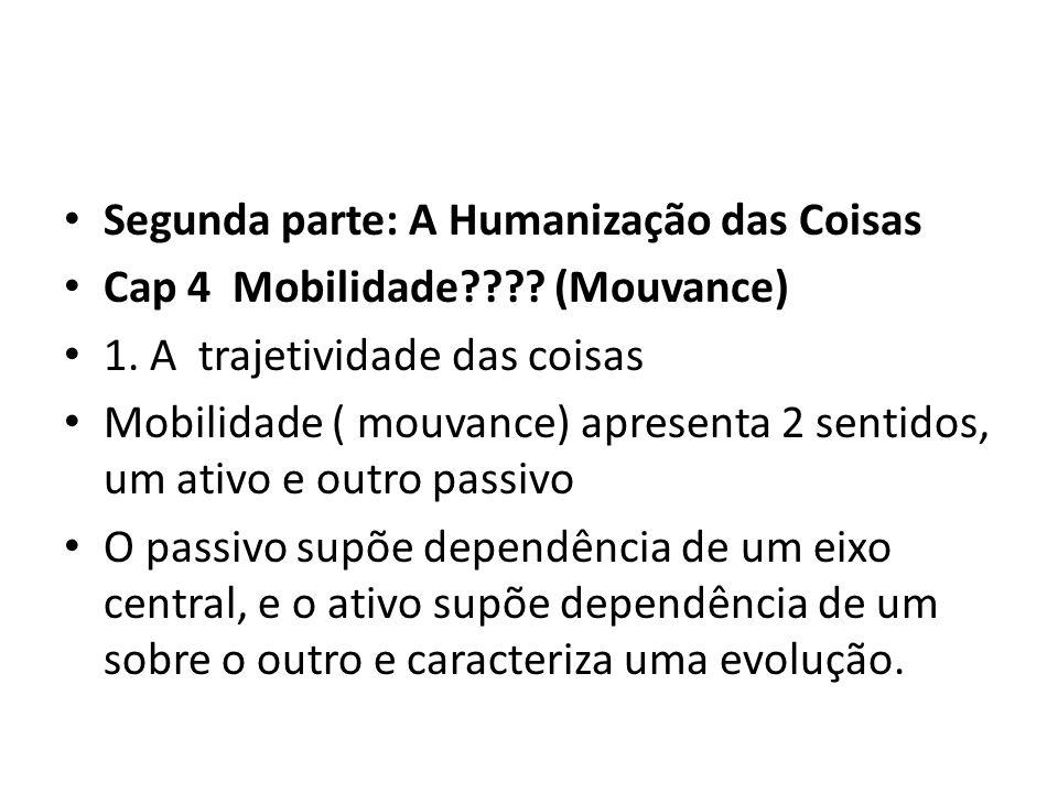 • Segunda parte: A Humanização das Coisas • Cap 4 Mobilidade .