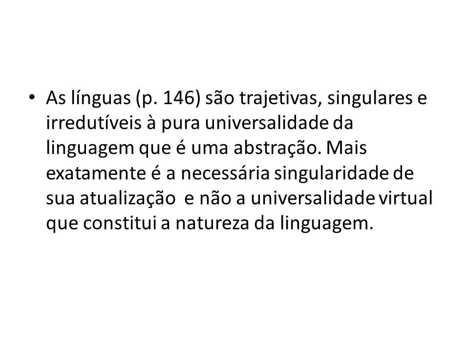 • As línguas (p.