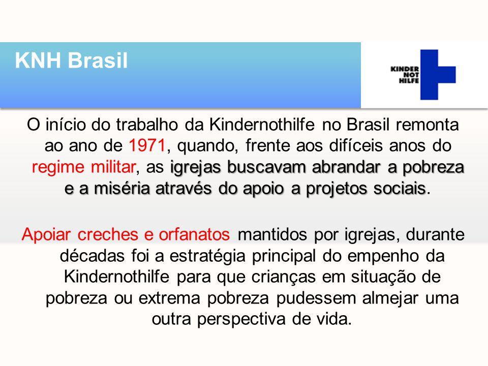 igrejas buscavam abrandar a pobreza e a miséria através do apoio a projetos sociais O início do trabalho da Kindernothilfe no Brasil remonta ao ano de