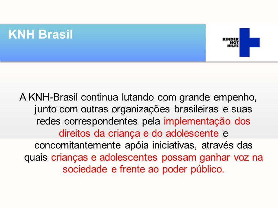 A KNH-Brasil continua lutando com grande empenho, junto com outras organizações brasileiras e suas redes correspondentes pela implementação dos direit