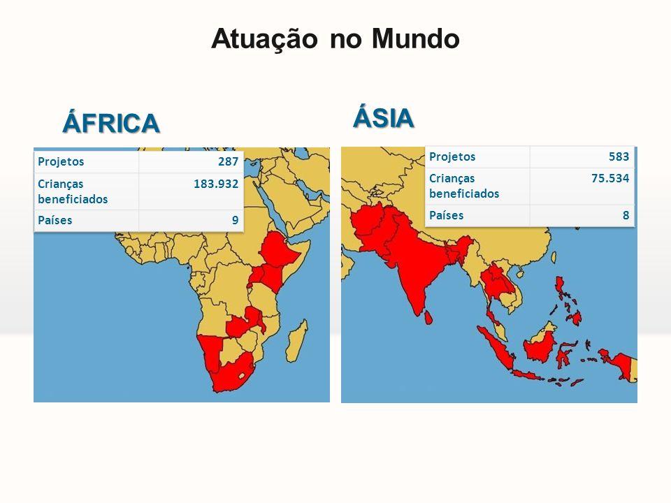 Atuação no Mundo ÁFRICA ÁSIA