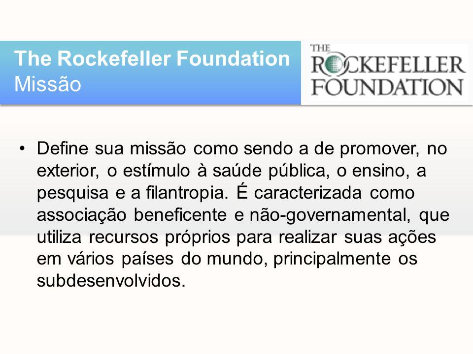 •Define sua missão como sendo a de promover, no exterior, o estímulo à saúde pública, o ensino, a pesquisa e a filantropia. É caracterizada como assoc