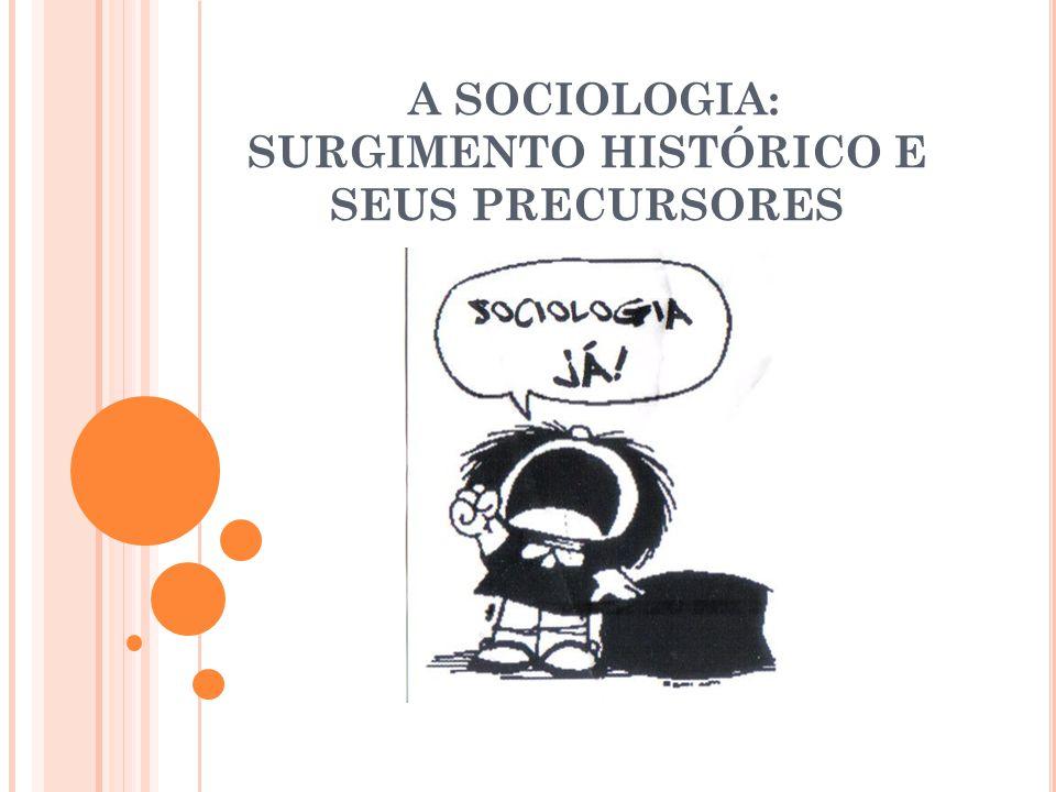 A SOCIOLOGIA: SURGIMENTO HISTÓRICO E SEUS PRECURSORES