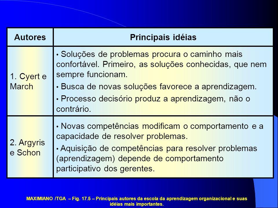 • Novas competências modificam o comportamento e a capacidade de resolver problemas. • Aquisição de competências para resolver problemas (aprendizagem