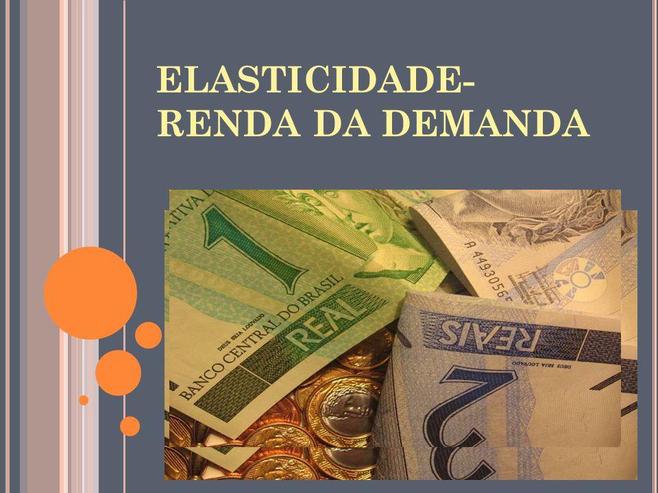 ELASTICIDADE- RENDA DA DEMANDA