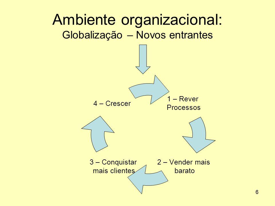 6 Ambiente organizacional: Globalização – Novos entrantes