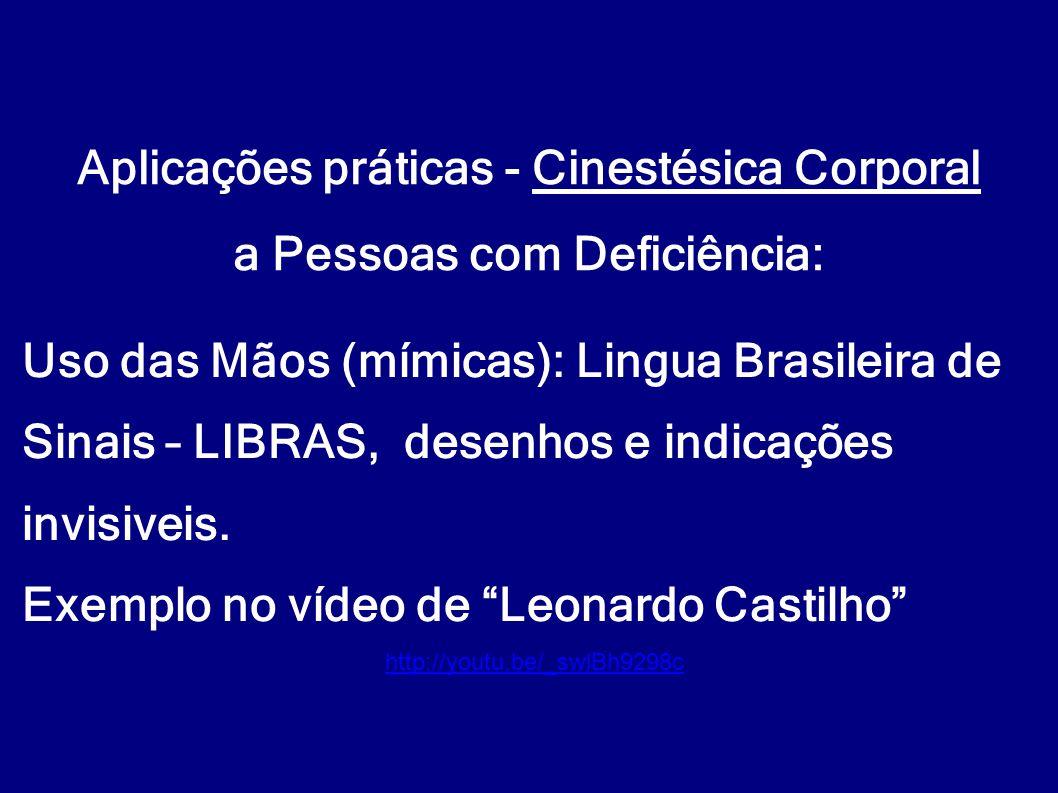 """Uso das Mãos (mímicas): Lingua Brasileira de Sinais – LIBRAS, desenhos e indicações invisiveis. Exemplo no vídeo de """"Leonardo Castilho"""" Aplicações prá"""