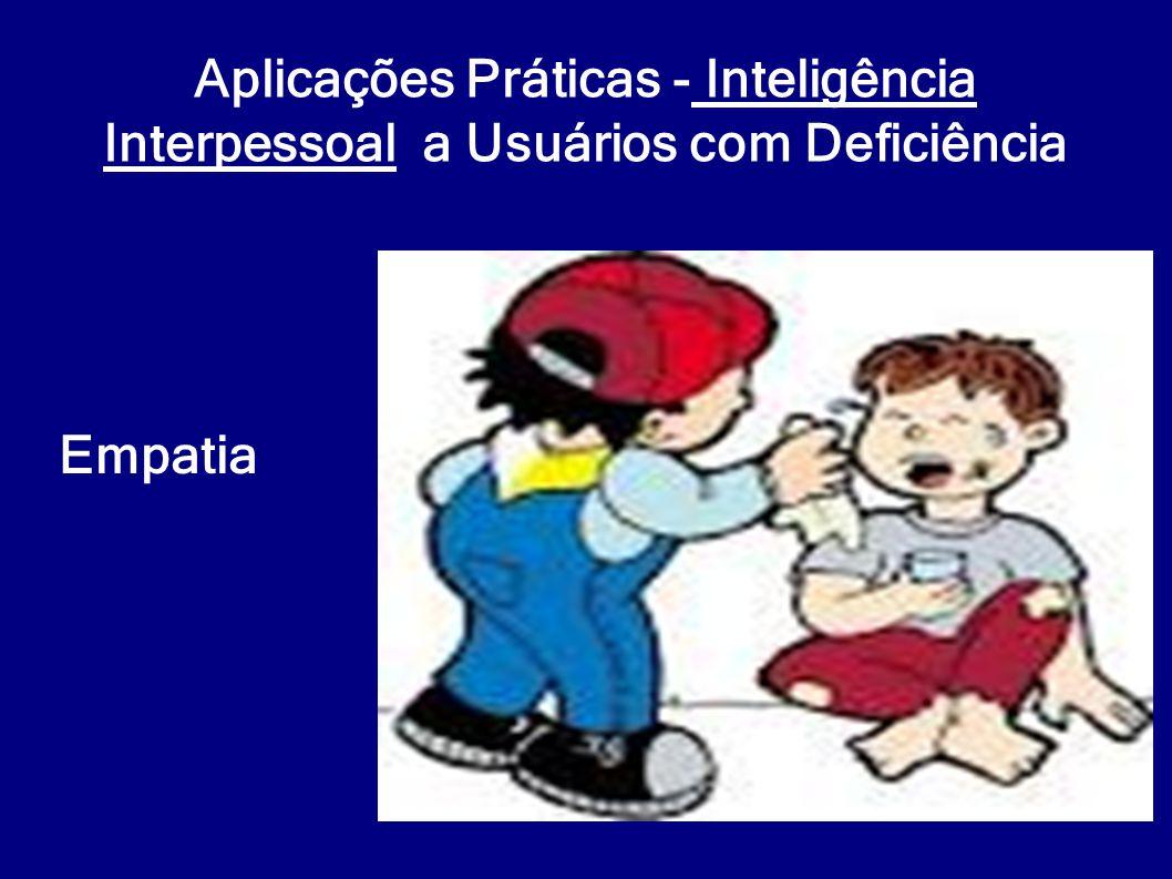 Aplicações Práticas - Inteligência Interpessoal a Usuários com Deficiência Empatia