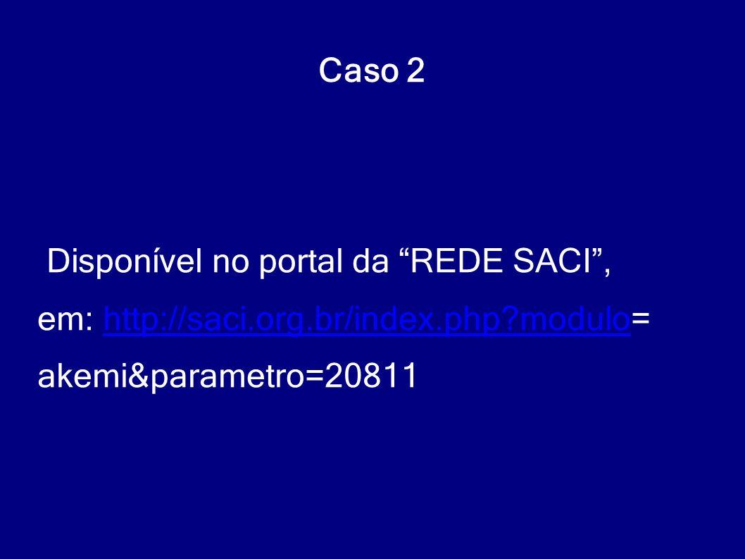 """Disponível no portal da """"REDE SACI"""", em: http://saci.org.br/index.php?modulo=http://saci.org.br/index.php?modulo akemi&parametro=20811 Caso 2"""