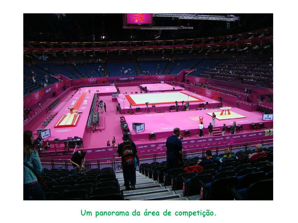 Um panorama da área de competição.