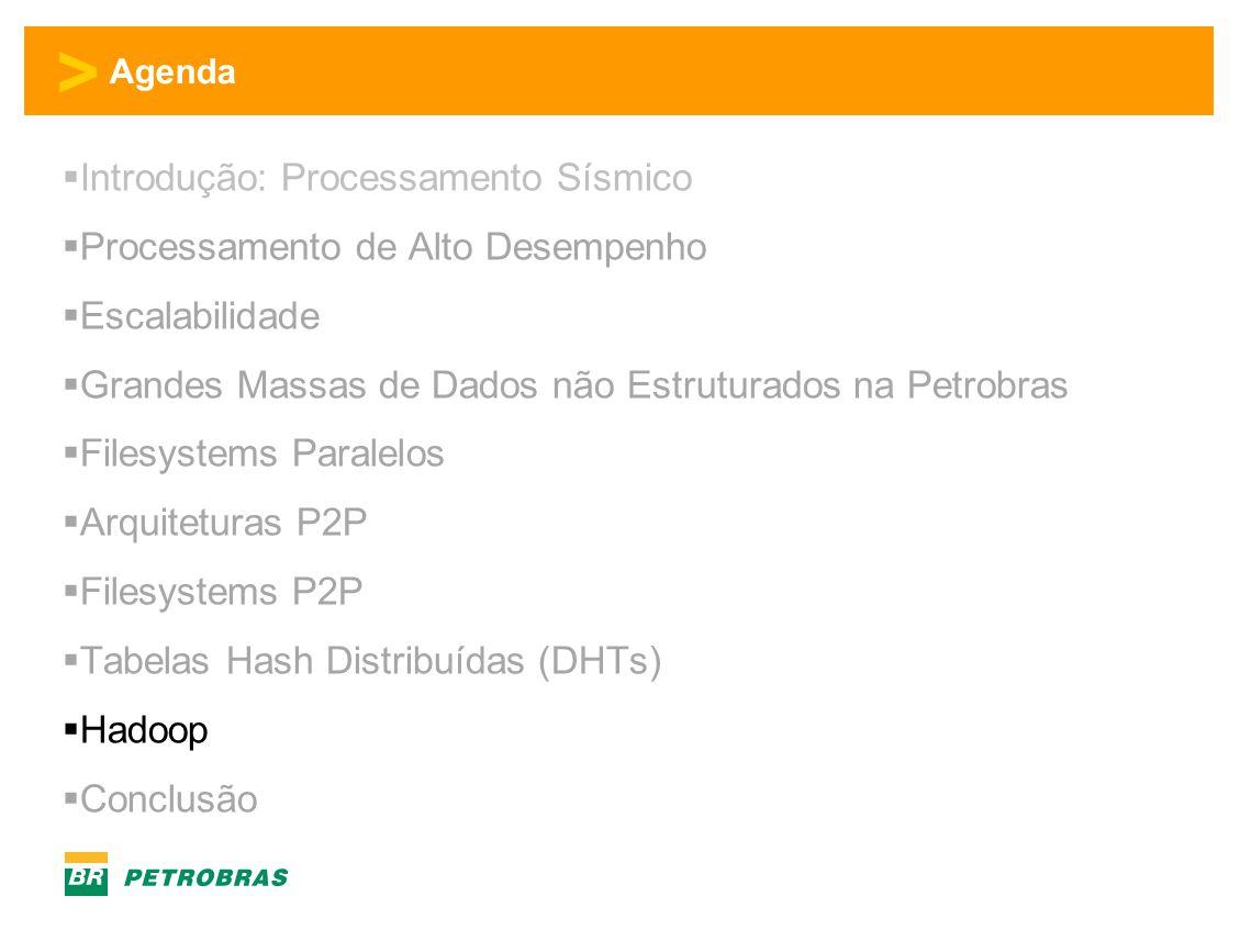 > Agenda  Introdução: Processamento Sísmico  Processamento de Alto Desempenho  Escalabilidade  Grandes Massas de Dados não Estruturados na Petrobr