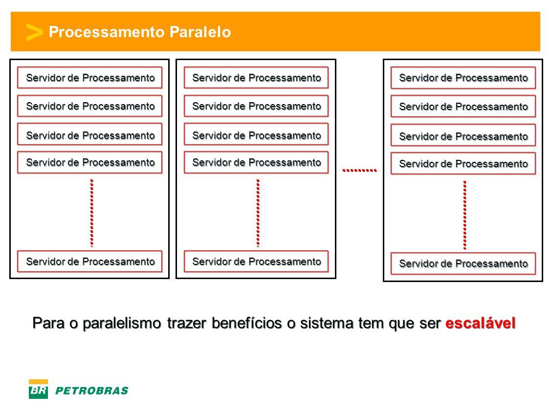 > Processamento Paralelo Servidor de Processamento Para o paralelismo trazer benefícios o sistema tem que ser escalável
