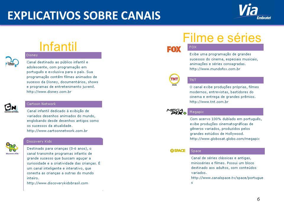 EXPLICATIVOS SOBRE CANAIS 6 Infantil Filme e séries