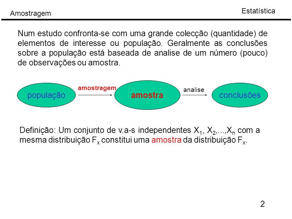 Estatística Amostragem E[X]=  Var[X]=  2  - inflexão   23