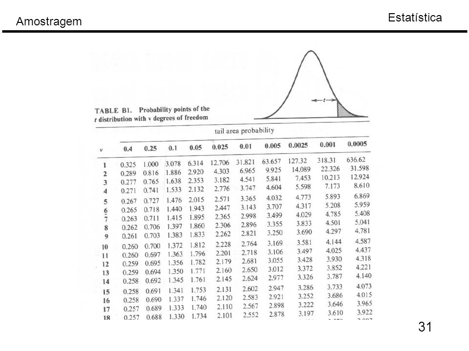 Estatística Amostragem 31