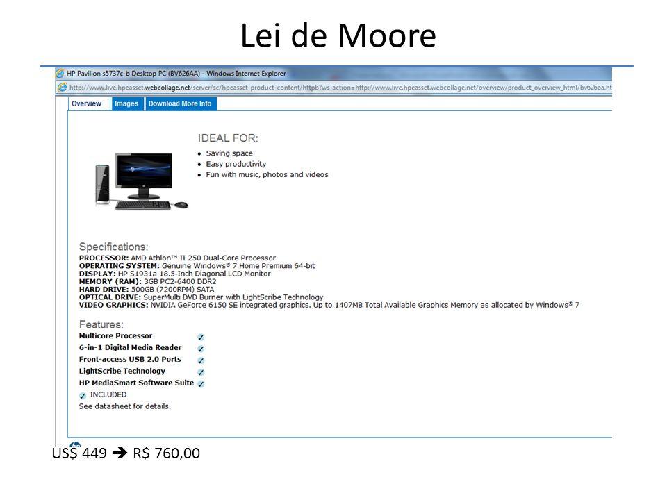 Lei de Moore US$ 449  R$ 760,00