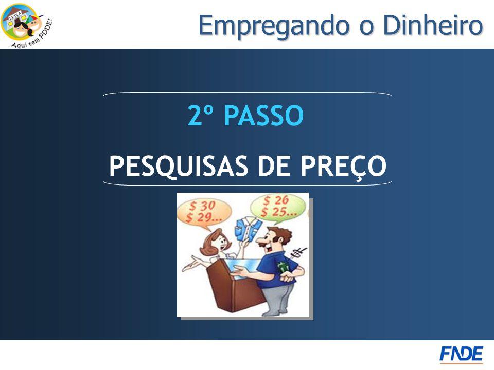 Empregando o Dinheiro PESQUISAS DE PREÇO 2º PASSO