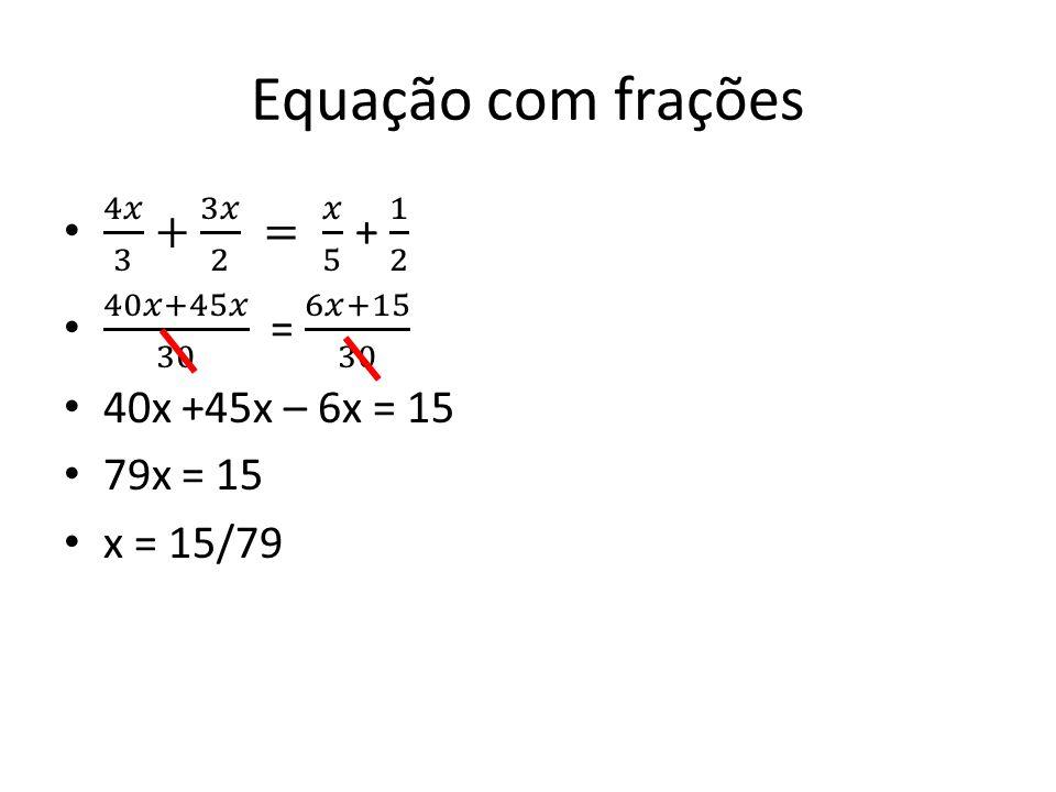Equação com frações