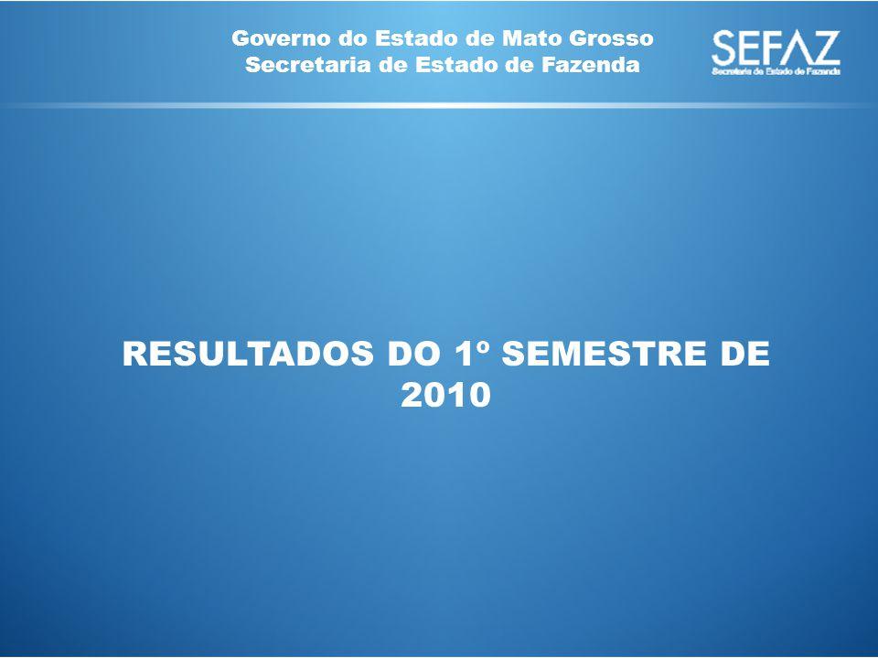 Governo do Estado de Mato Grosso Secretaria de Estado de Fazenda RESULTADOS DO 1º SEMESTRE DE 2010