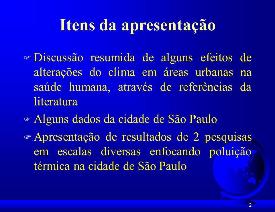 33 Amplitudes Térmicas Diárias: Postos A, B, C, D – Favela Paraisópolis e no Posto H – Rua Silveira Sampaio, São Paulo, SP.