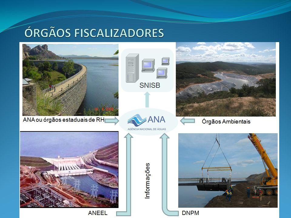 Agente privado ou governamental: com direito real sobre as terras onde se localizam a barragem e o reservatório; ou que expore a barragem para benefício próprio ou da coletividade.