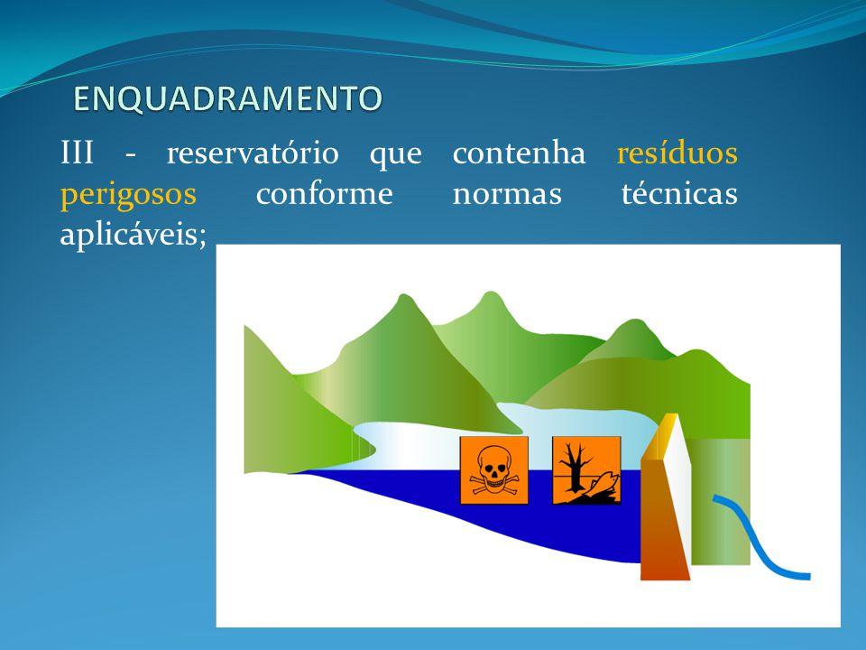 Cumprimento da lei em rios de sua dominialidade, aplicável a barragens destinadas à acumulação de água para fins múltiplos.