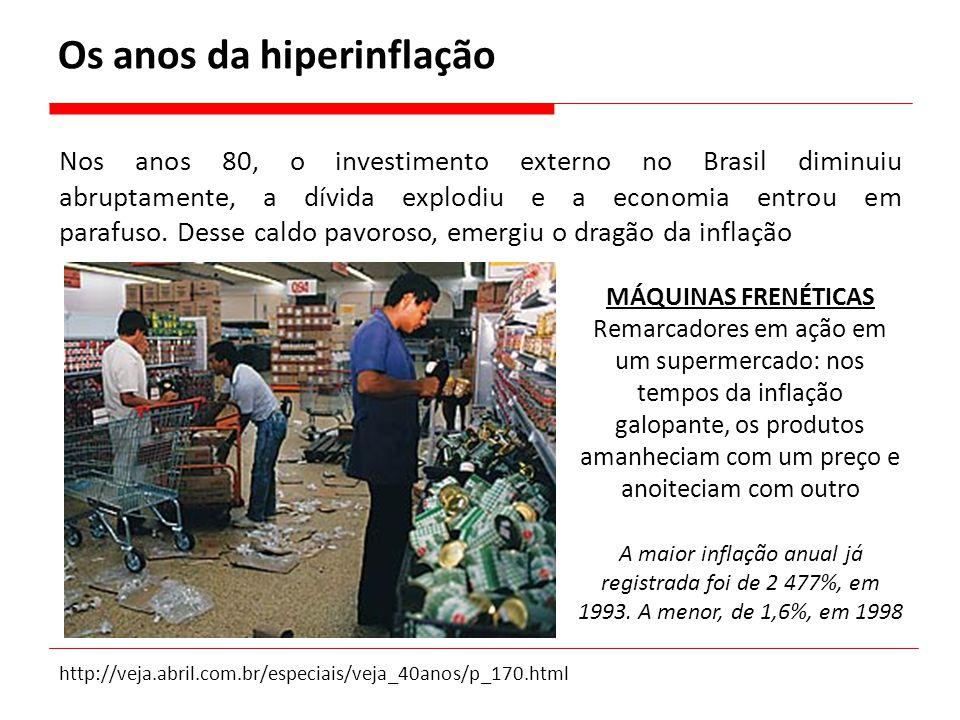 Nos anos 80, o investimento externo no Brasil diminuiu abruptamente, a dívida explodiu e a economia entrou em parafuso. Desse caldo pavoroso, emergiu