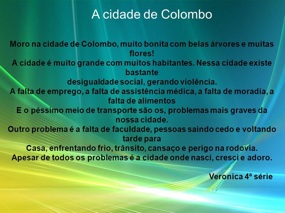 Minha Cidade A cidade que eu moro se chama Curitiba e ela é bem grande com muitas pessoas.