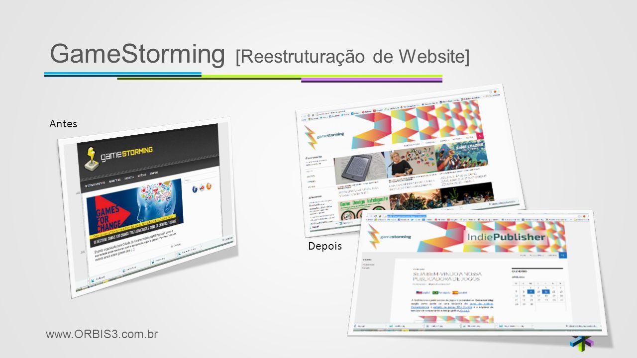 www.ORBIS3.com.br GameStorming [Reestruturação de Website] Antes Depois