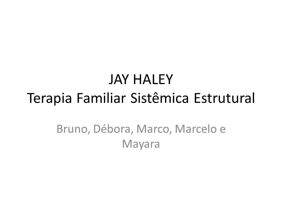 JAY HALEY Terapia Familiar Sistêmica Estrutural Bruno, Débora, Marco, Marcelo e Mayara