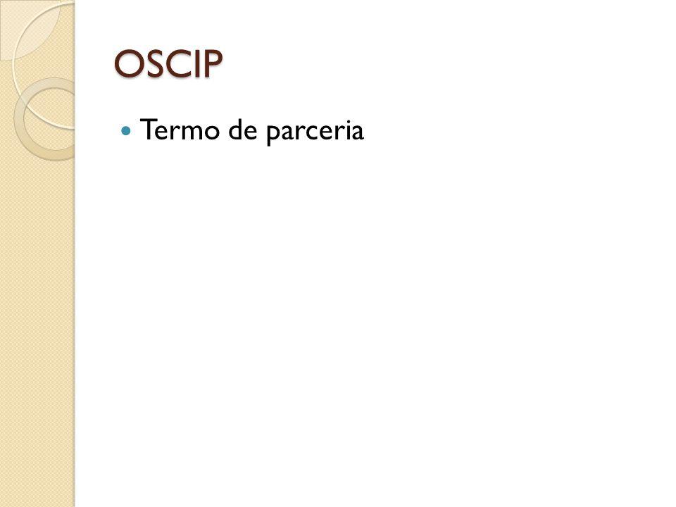 OSCIP  Termo de parceria