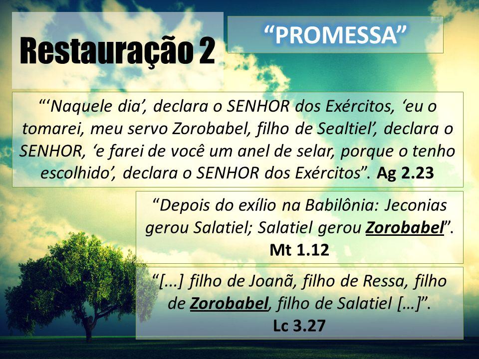 Restauração 2 O Reino de Deus está próximo.Arrependam-se e creiam nas boas novas! .