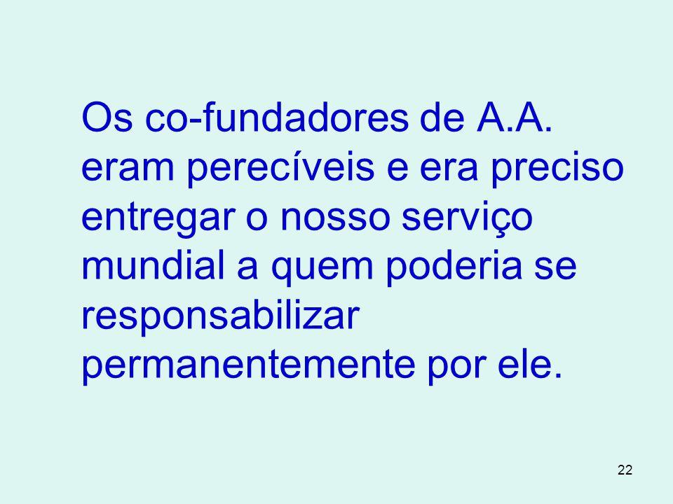 22 Os co-fundadores de A.A.
