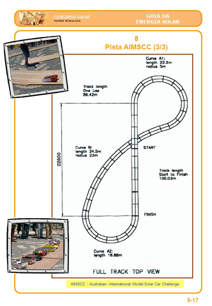 GUIA DA ENERGIA SOLAR 8 Pista AIMSCC (3/3) 8-17 AIMSCC - Australian –International Model Solar Car Challenge