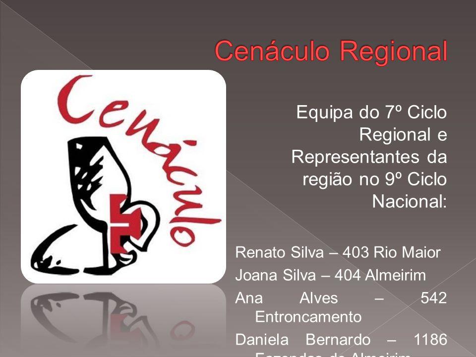 Equipa do 7º Ciclo Regional e Representantes da região no 9º Ciclo Nacional: Renato Silva – 403 Rio Maior Joana Silva – 404 Almeirim Ana Alves – 542 Entroncamento Daniela Bernardo – 1186 Fazendas de Almeirim