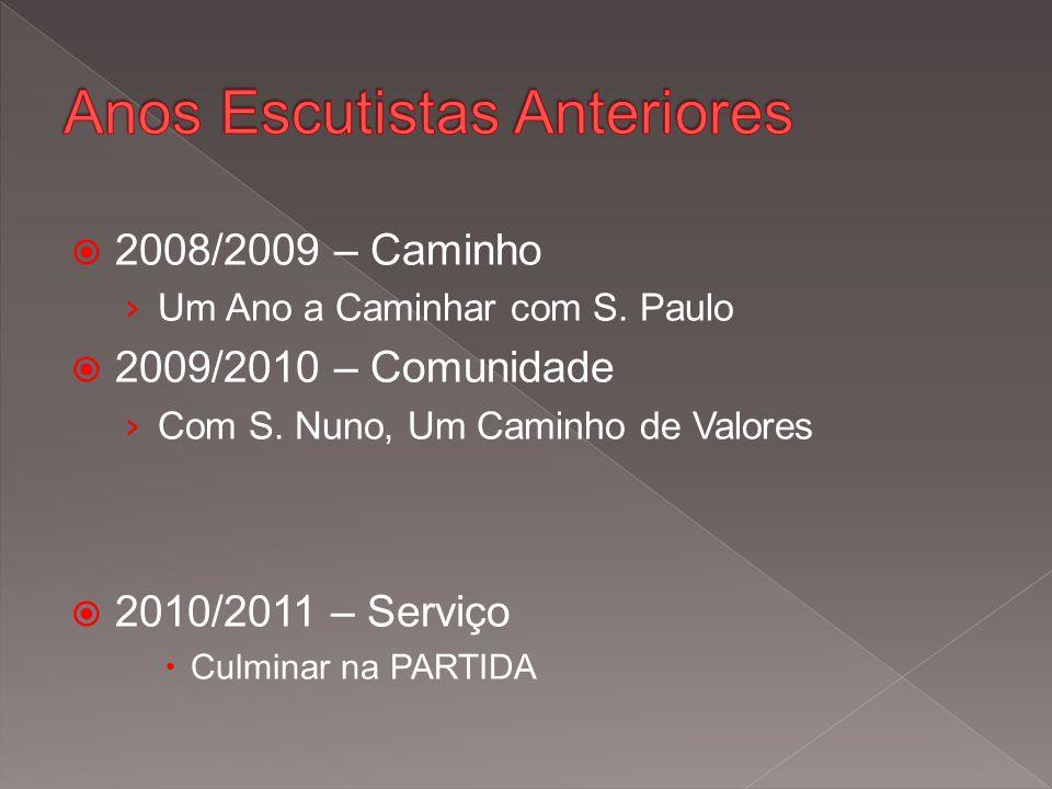  2008/2009 – Caminho › Um Ano a Caminhar com S. Paulo  2009/2010 – Comunidade › Com S.