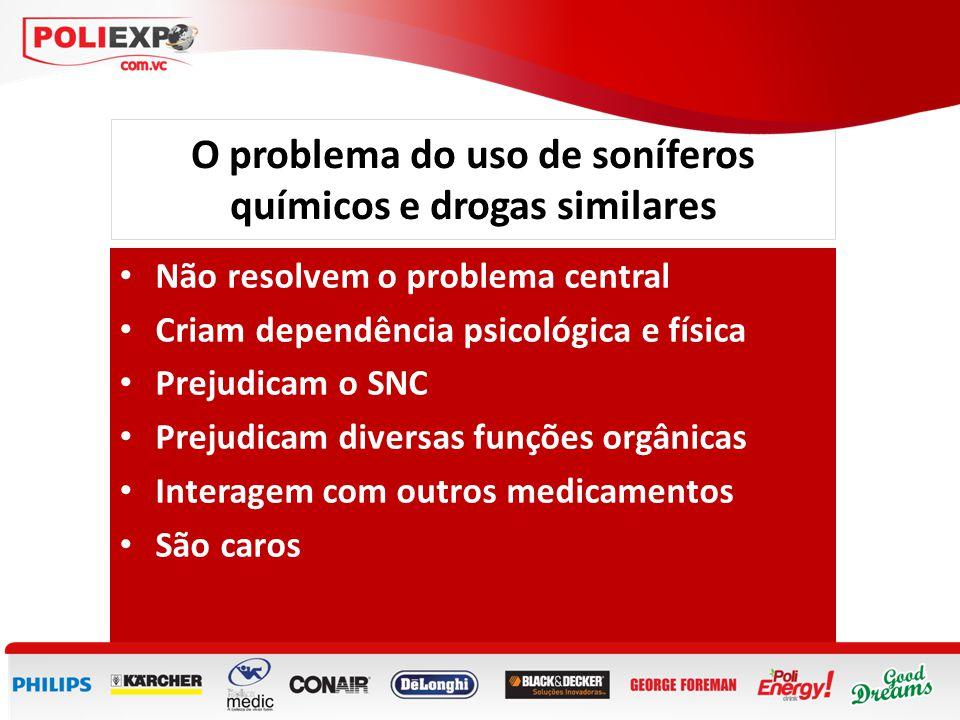O problema do uso de soníferos químicos e drogas similares • Não resolvem o problema central • Criam dependência psicológica e física • Prejudicam o S
