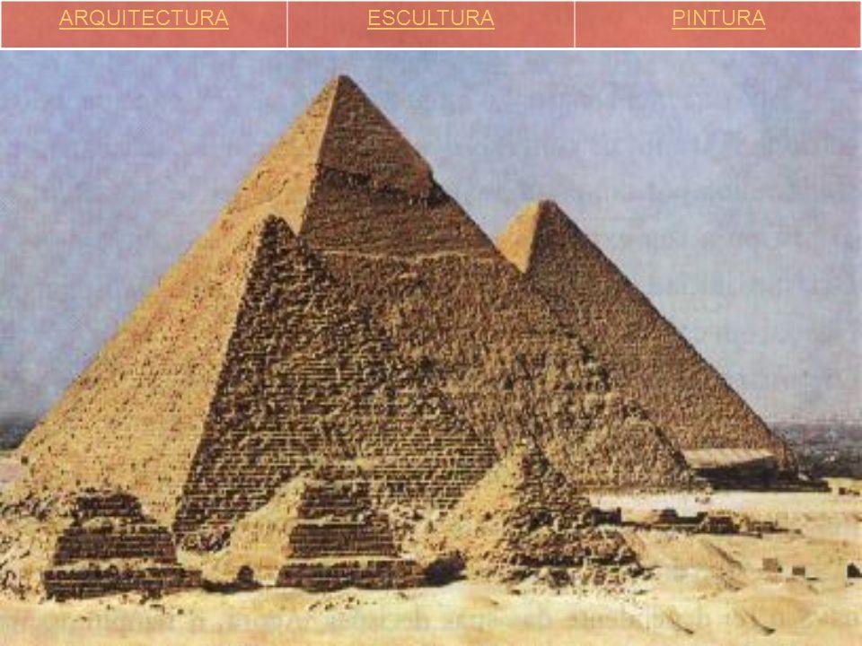 ARQUITETURA  Estava ao serviço do Faraó, das divindades e dos mortos.