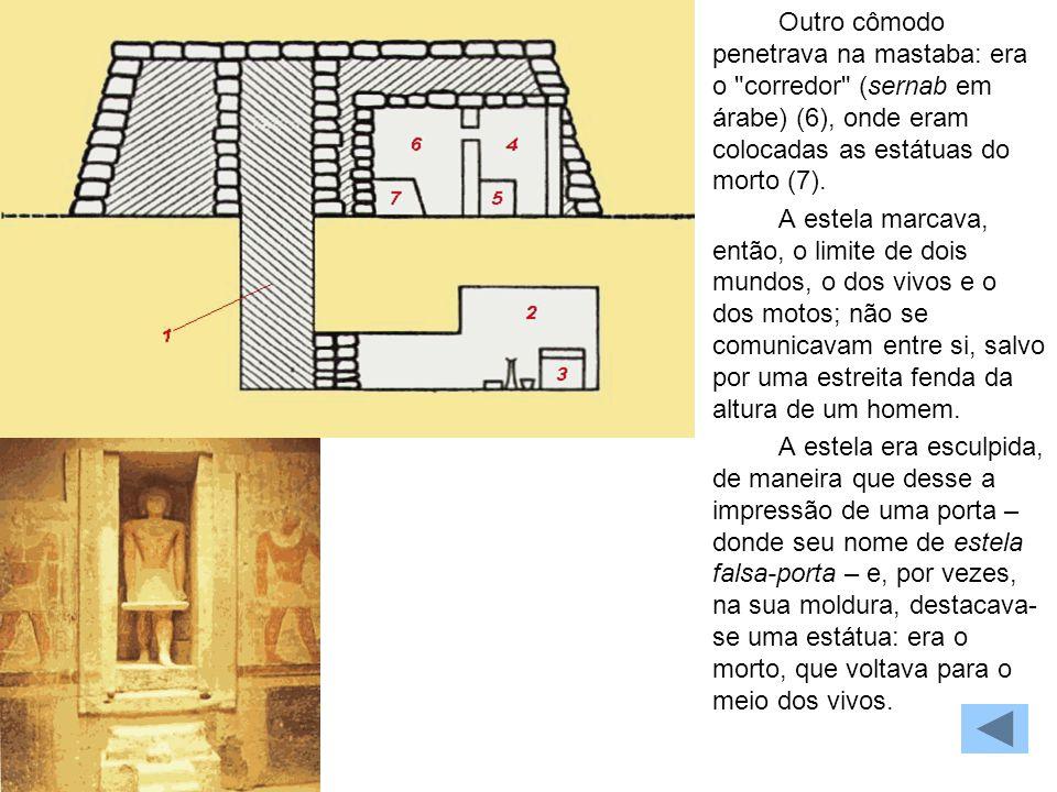 MASTABA Outro cômodo penetrava na mastaba: era o