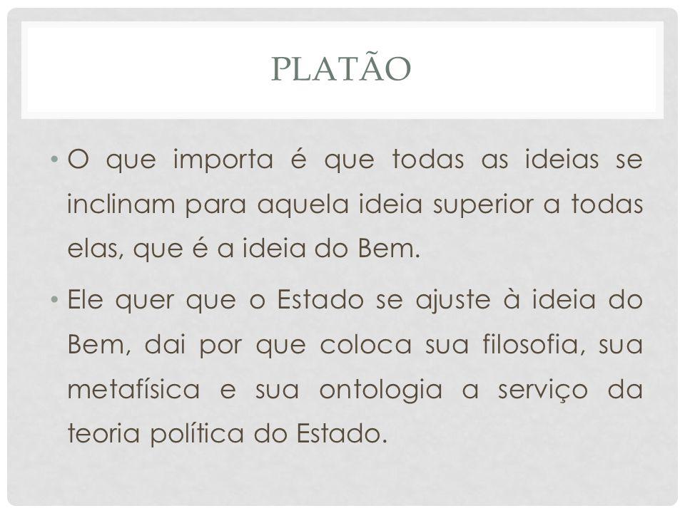 PLATÃO • O que importa é que todas as ideias se inclinam para aquela ideia superior a todas elas, que é a ideia do Bem.