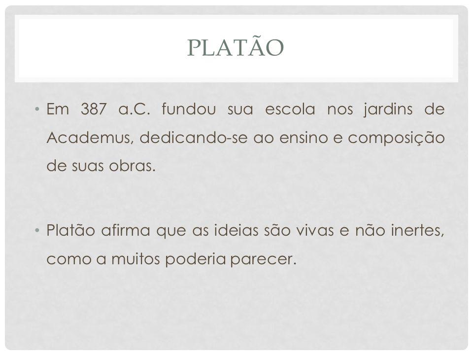 PLATÃO • Em 387 a.C.