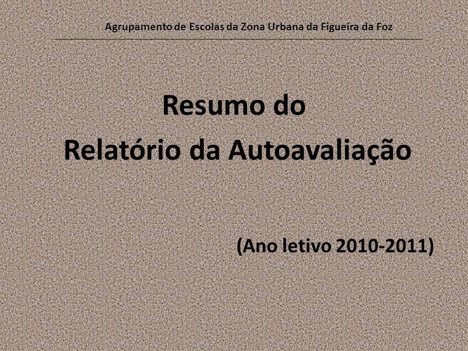 Resumo do Relatório da Autoavaliação (Ano letivo 2010-2011) Agrupamento de Escolas da Zona Urbana da Figueira da Foz