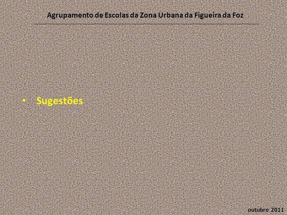 outubro 2011 Agrupamento de Escolas da Zona Urbana da Figueira da Foz • Sugestões