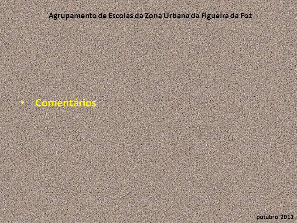 outubro 2011 Agrupamento de Escolas da Zona Urbana da Figueira da Foz • Comentários