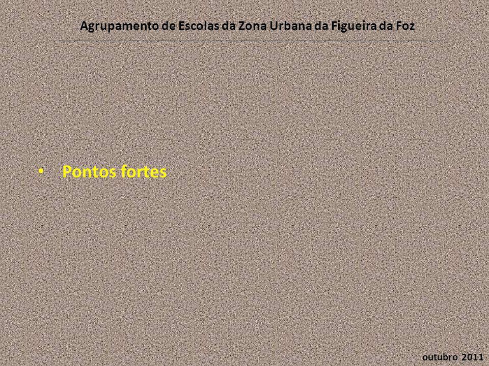 outubro 2011 Agrupamento de Escolas da Zona Urbana da Figueira da Foz • Pontos fortes