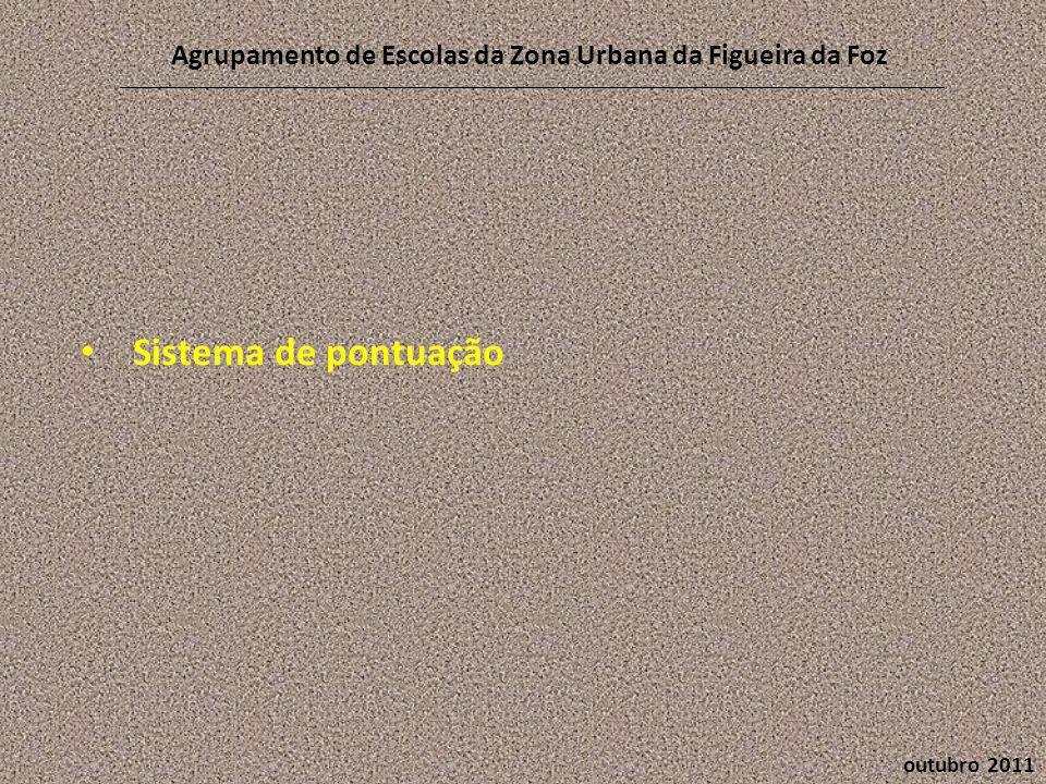 outubro 2011 Agrupamento de Escolas da Zona Urbana da Figueira da Foz • Sistema de pontuação