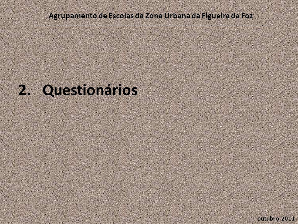 2.Questionários outubro 2011 Agrupamento de Escolas da Zona Urbana da Figueira da Foz