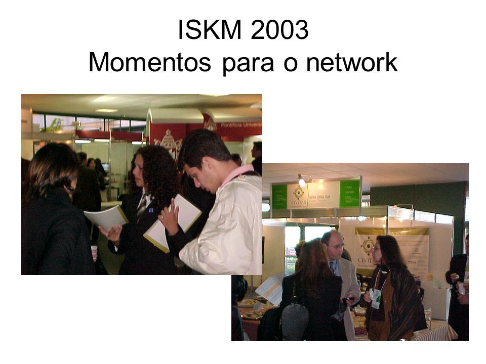 ISKM 2003 Momentos para o network